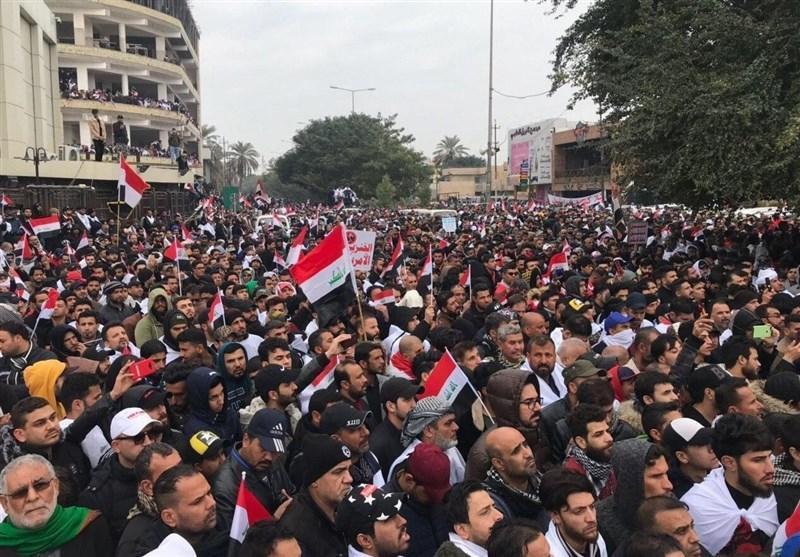 تصاویر هوایی از تظاهرات میلیونی ضد آمریکایی امروز عراق