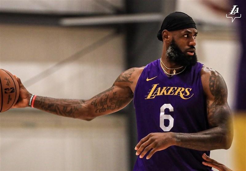 رکورد جدید جیمز در NBA