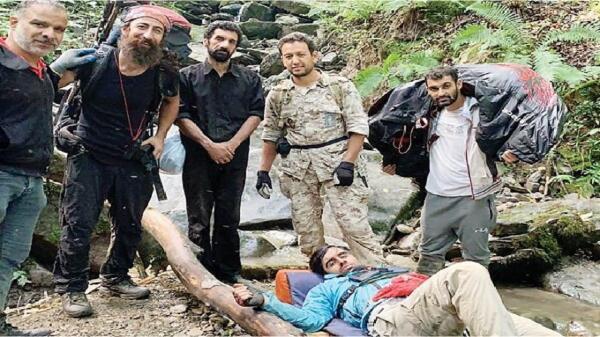 تبادل نظر با خلبان سقوط نموده در جنگل های سوادکوه